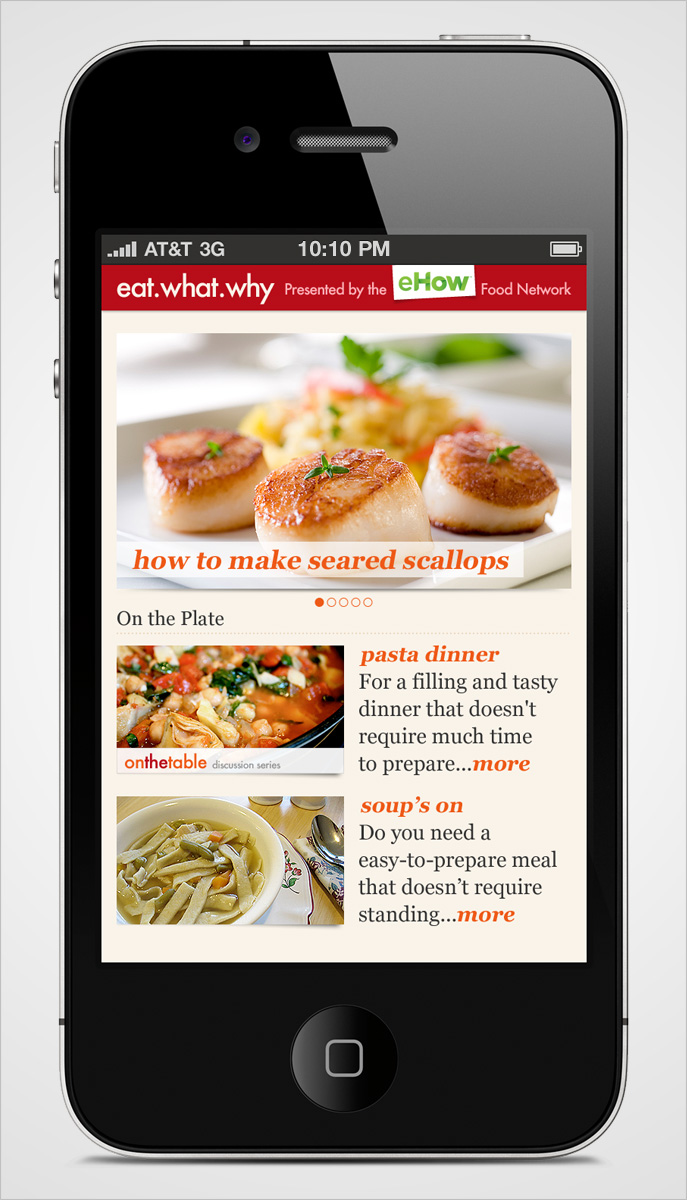 Eat What Why Mobile Category Page