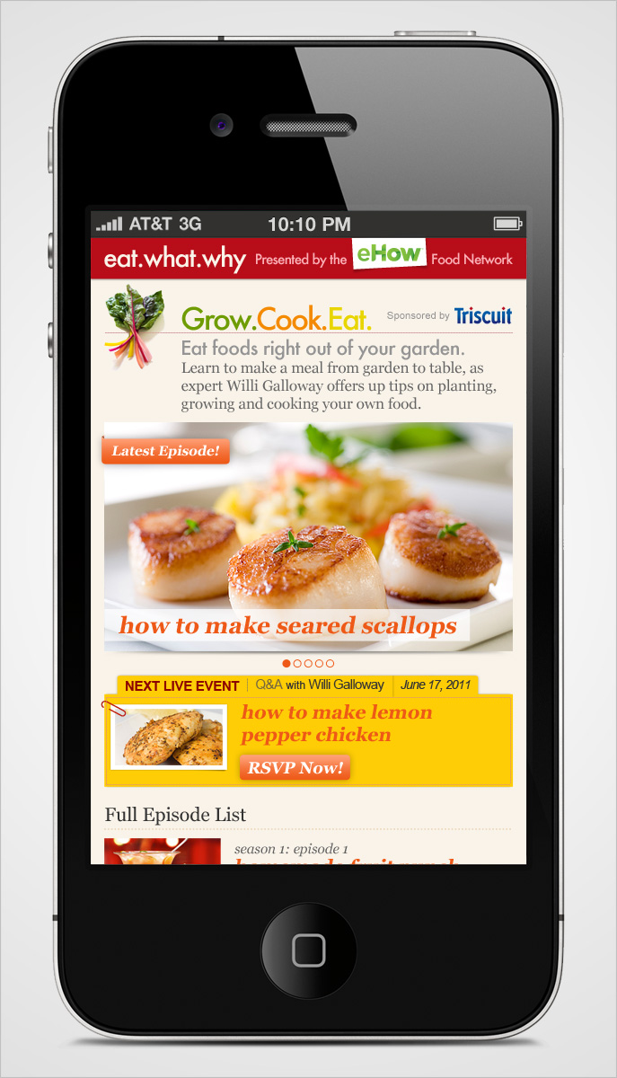 Eat What Why Mobile Show Page