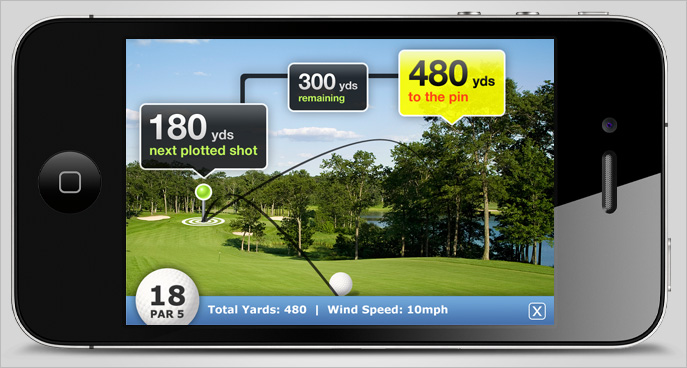 Golflink iPhone Augmented Reality View