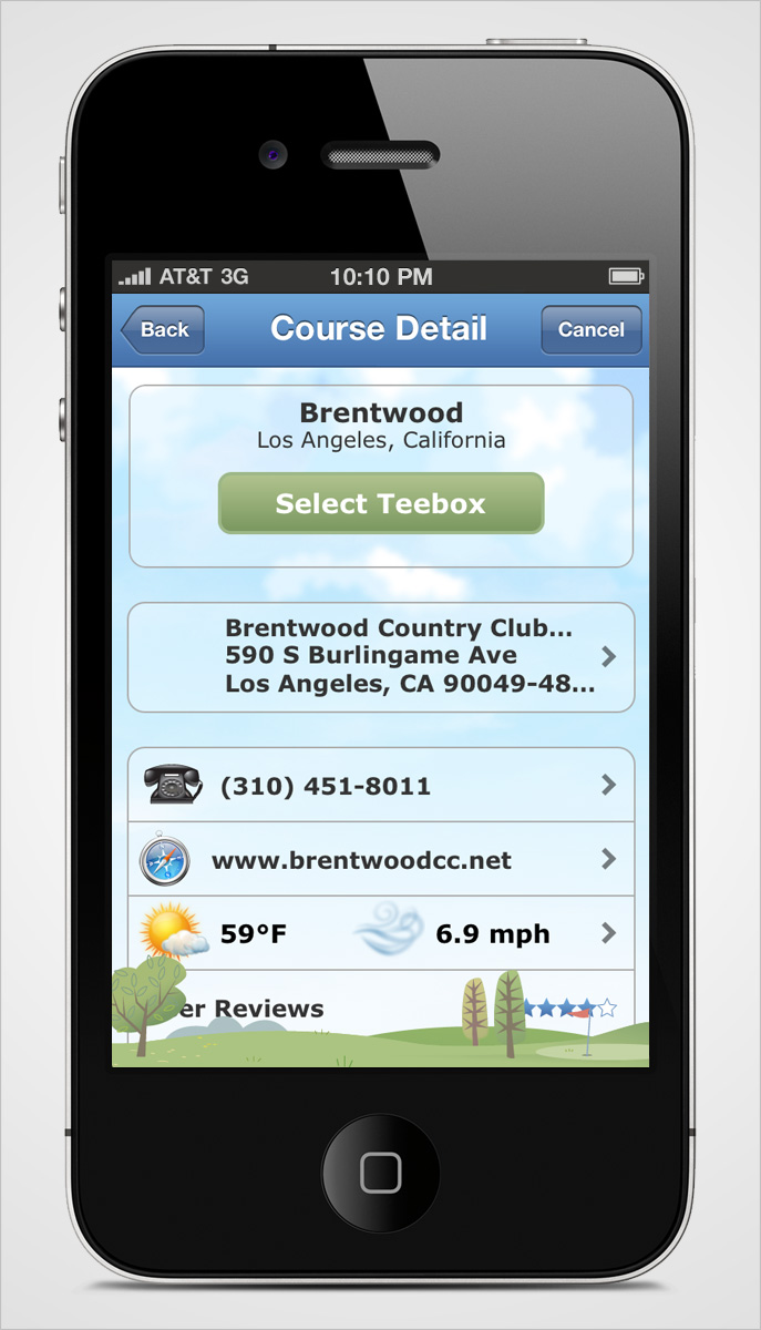 Golflink iPhone Course Detail Page