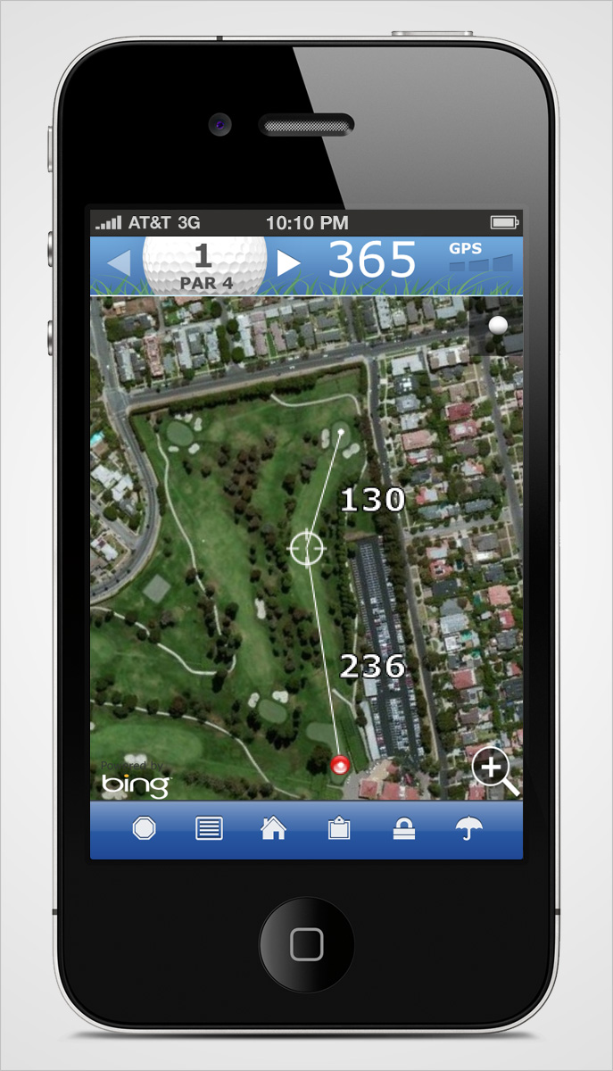 Golflink iPhone Hole Overview