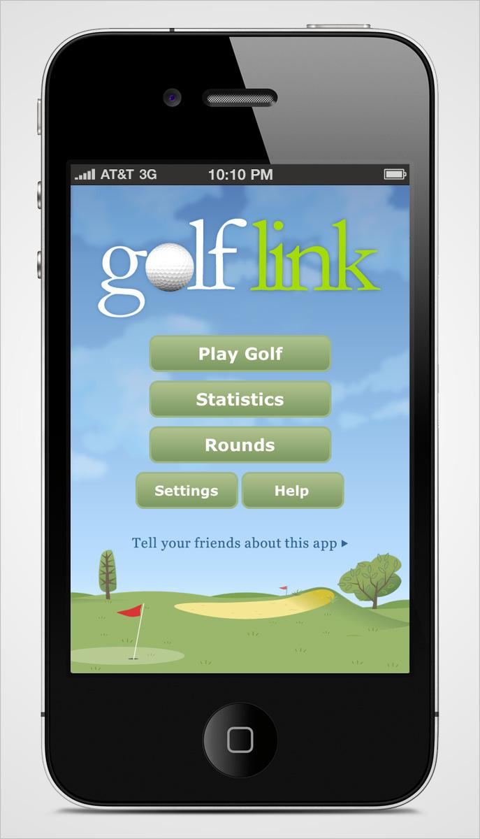 Golflink iPhone Home Screen