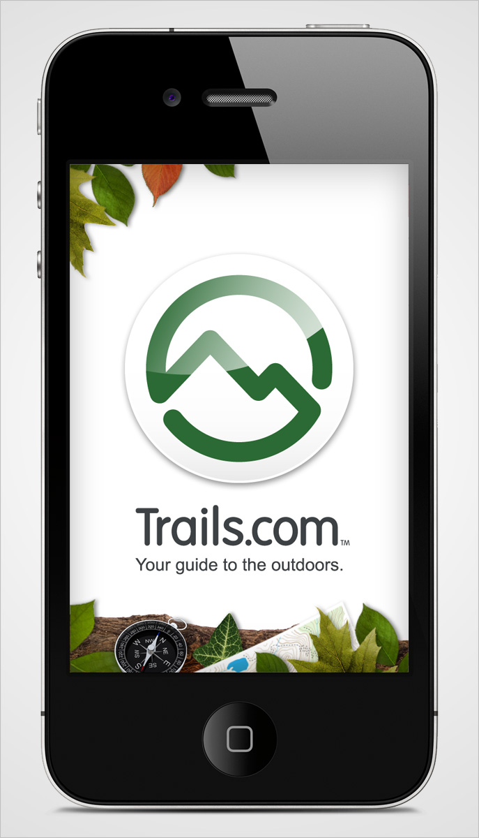 Trails iPhone App Home Screen