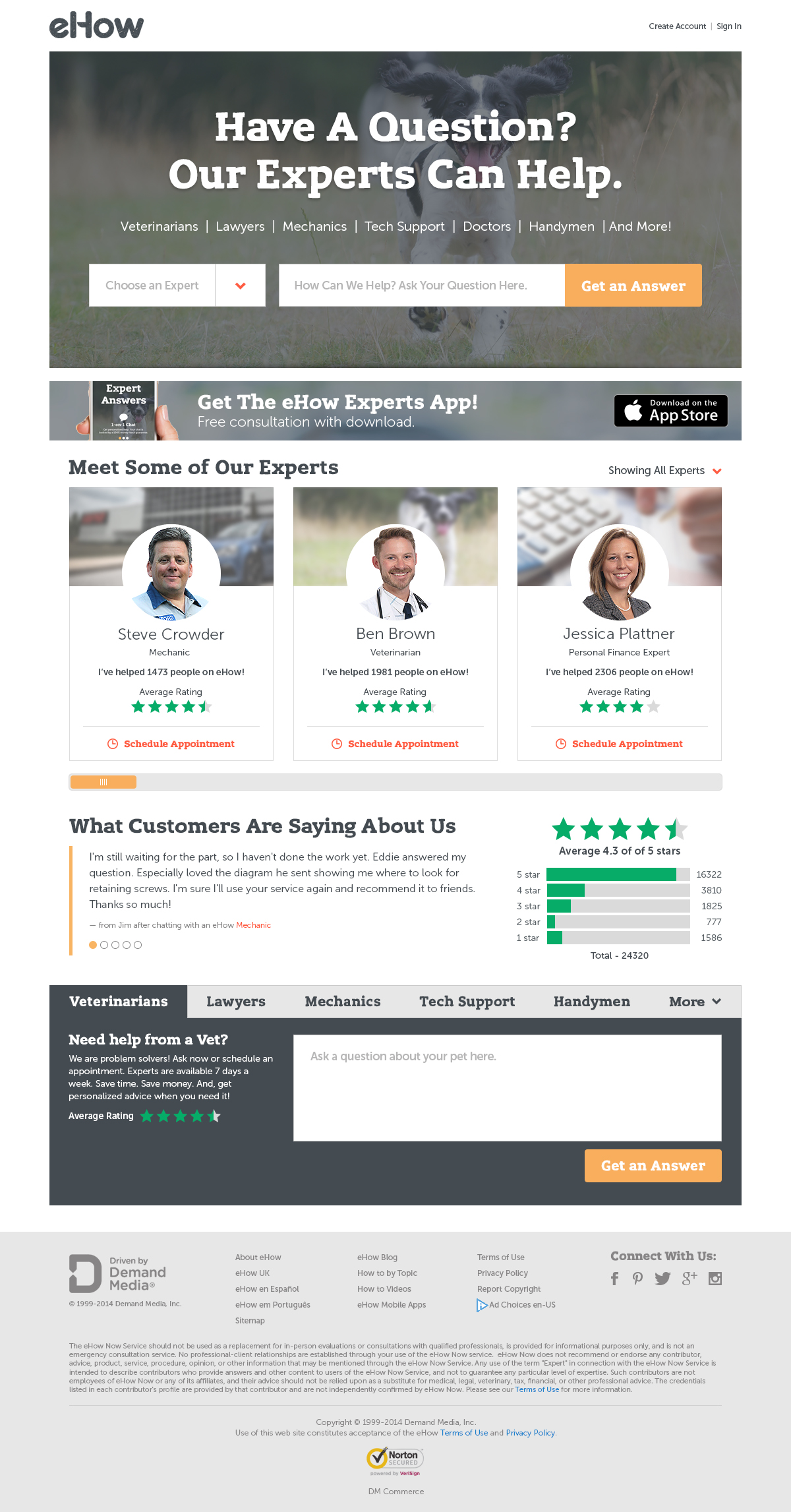 eHow Experts Homepage